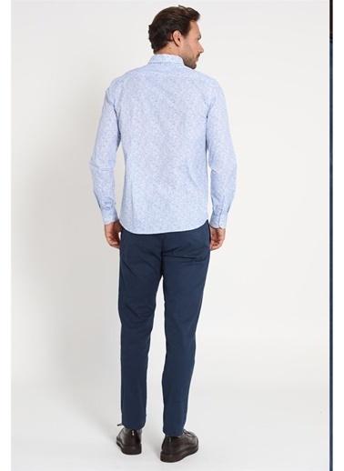 Lufian Sam Spor Chino Pantolon Slim Fit  Lacivert